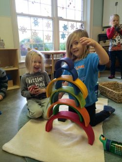 Ella Grace and Lucas rainbow